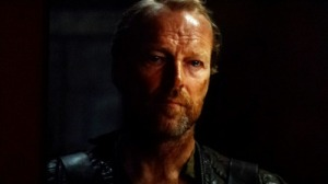 Jorah being sad about his second banishment.  Source