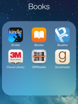 Ebook apps on Heather's iPhone