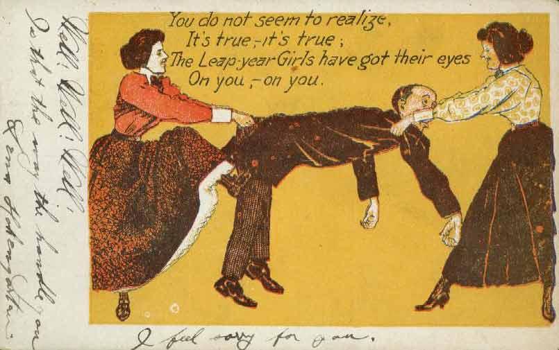 leapyear postcard