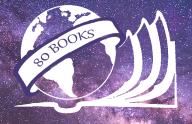 80 Books logo background